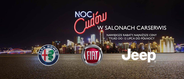 Noc Cudów w salonach Alfa Romeo, Fiat oraz Jeep