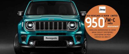 Jeep Renegade 1.3 150KM w abonamencie za 950zł/m-c