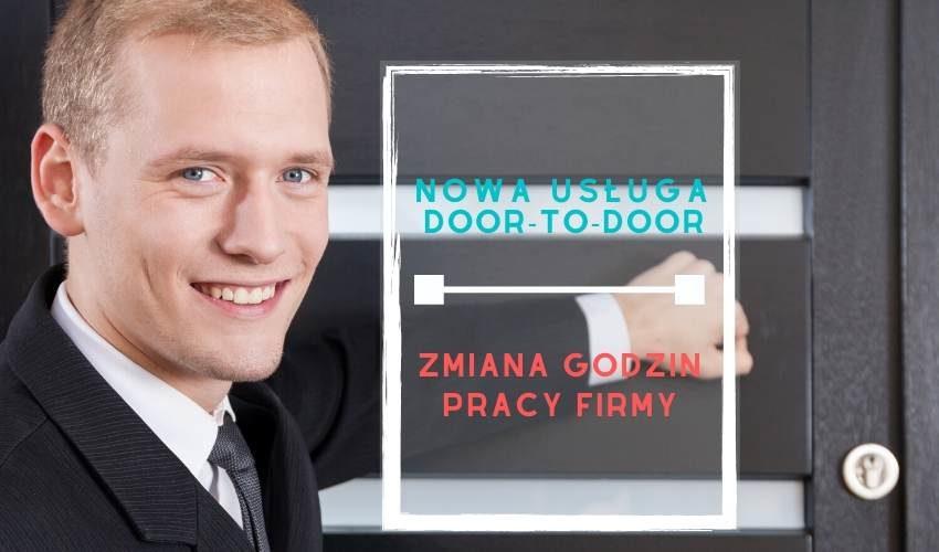 Zmiany godzin otwarcia oraz nowa usługa: door-to-door
